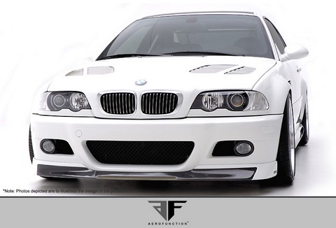 2001-2006 BMW M3 E46 2DR  Aero Function AF-1 Front Add-On Spoiler (CFP)