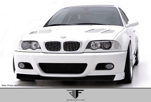 2001-2006 BMW M3 E46 2DR  Aero Function AF-1 Front Add-On Spoiler (GFK)