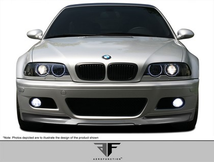 01-06 BMW M3 E46 2DR AF-2 Front Add-On Spoiler (Carbon Fiber)