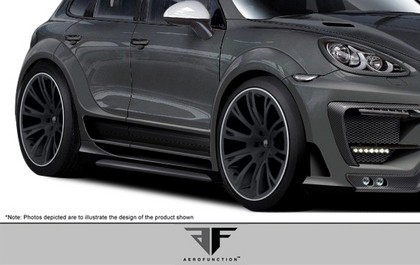 2011-2012 Porsche Cayenne Aero Function AF-1 Wide-Body Rear Fender Flares / Door Caps - 4 pieces (GFK)