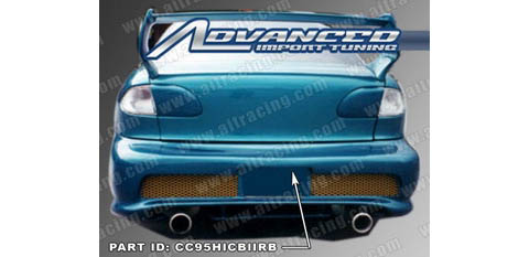 95-99 Chevrolet Cavalier 2DR AIT Racing Kombat 2 Style Body Kit - Rear Bumper