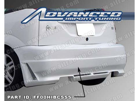 00-03 Ford Focus ZX3 AIT Racing R34 Style Body Kit - Rear Bumper
