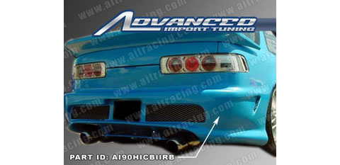 90-93 Acura Integra 2DR AIT Racing Kombat 2 Style Body Kit - Rear Bumper (Single Tip)