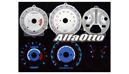 Accord Auto Part Racing on White Reverse Otto Racing Gauge  130mph   90 93 Honda Accord Auto