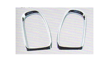02-05 Mercedes ML (W163) Alfa Otto Mirrors - Mirror Trim (Chrome)