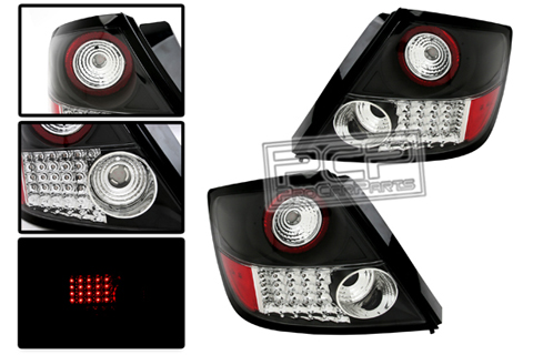 04-UP SCION TC ALFA OTTO TAIL LIGHTS - BLACK HOUSING L.E.D. EURO TAIL LIGHTS