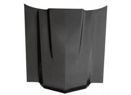 70-72 Chevelle Anvil Cowl Induction Hood (Carbon Fiber Top / Fiberglass Bottom - Satin)