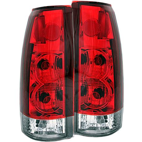 99-00 Escalade Anzo Tail Lights - Euro/Altezza G5 (Red/Clear)