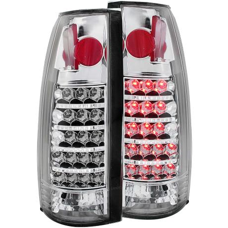 99-00 Escalade Anzo Tail Lights - LED (Chrome)