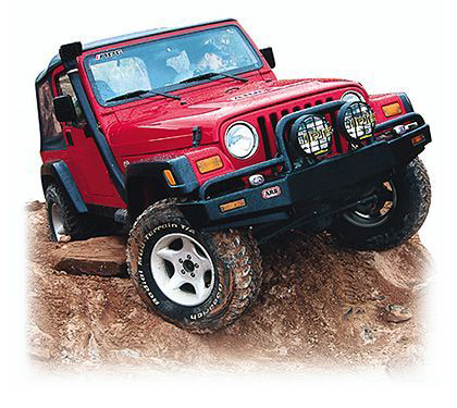97-05 Jeep Wrangler (97-06Tj) Base, Rubicon, Sahara, Se, Sport, X;;04-05 Jeep Wrangler (97-06Lj) Unlimited ARB Custom Front Bumper - Bull Bar Non Winch Mount (Front) (Paintable)