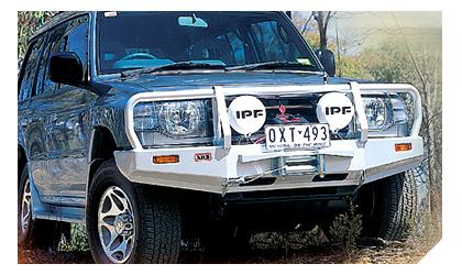 1992-2000 Mitsubishi Montero ARB Custom Front Bumper - Bull Bar Winch Mount (Front) (Paintable)