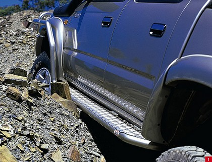 80-89 Toyota Land Cruiser Base ARB Nerf Bars - Protection Step Rocker Bar