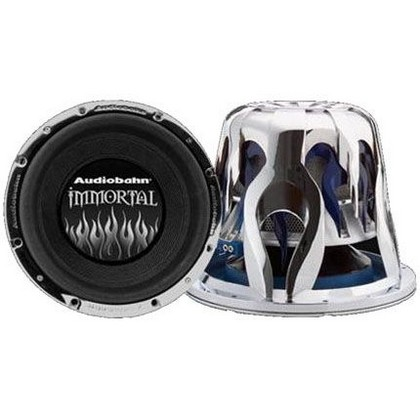 "All Jeeps (Universal) Audiobahn 12"""" Quad 2 Ohm Immortal Series Subwoofer With 3D Flame Basket"