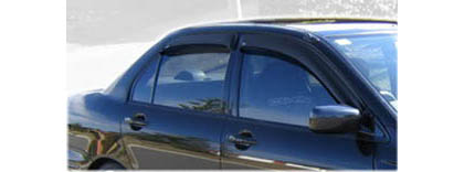 02-07 Lancer 4DR Sedan AVS Sunroof Deflectors - Ventvisor 4PC (Smoke)