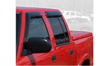01-04 S10 Pickup Crew Cab AVS Sunroof Deflectors - Ventvisor 4PC (Smoke)