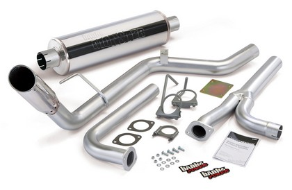 07-08 Nissan Frontier 4.0L (Crew Cab/Long Bed) Banks Monster Exhaust System (Chrome Stainless Steel Tip)