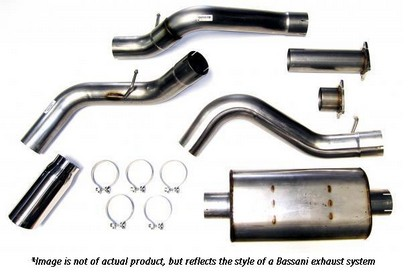 "68-72 Chevelle GM A-body Bassani Xhaust Cat-Back System - Stainless Steel - 2.5"" Diameter Tube"