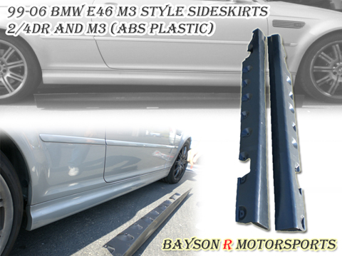 99-06 BMW E46 M3 Bayson R M3 Body Kit - Side Skirts