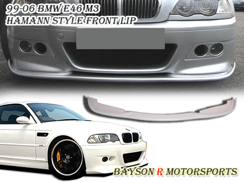 99-06 BMW E46 M3 Bayson R Hamann Body Kit - Front Lip (Urethane)