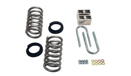 "97-03 F-250 Light Duty 2WD Std / Ext Cab (Coils rated for V8 engine only) Belltech Stage 1 Lowering Kit w/o Shocks (Front Lowering: 2"" or 3"""" / Rear Lowering: 4"")"
