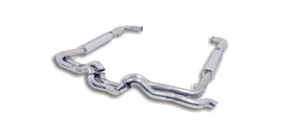 "96-02 Viper GTS B&B Performance 3"" Header Back Exhaust System w/o Cats, 4.5"" Ellyptical Rolled Edge Tip."
