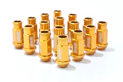 01-Up Toyota Highlander Blackworks Racing Lug Nut - 12 x 1.5 - Gen 2 (Gold)