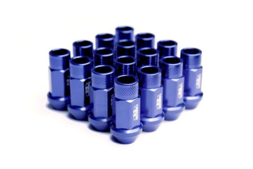 91-Up Isuzu Stylus Blox Racing Street Series Forged Lug Nuts - 12 x 1.5mm (Blue)