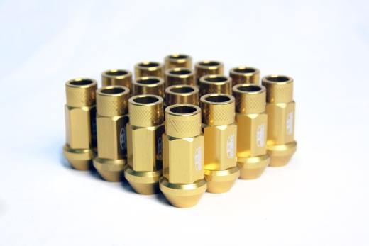 02-Up Jaguar X-Type Blox Racing Street Series Forged Lug Nut - 12 x 1.5mm (Gold)