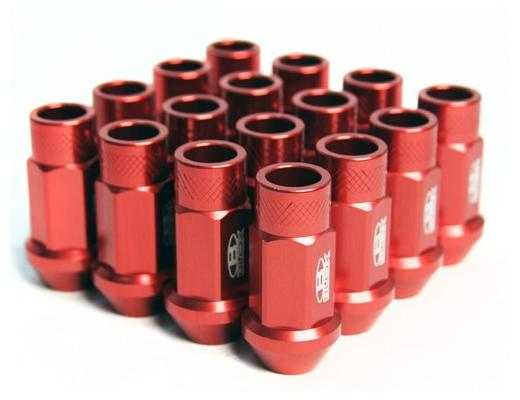 05-Up Pontiac G6, Sv6, Solstice Blox Racing Street Series Forged Lug Nut - 12 x 1.5mm (Red)