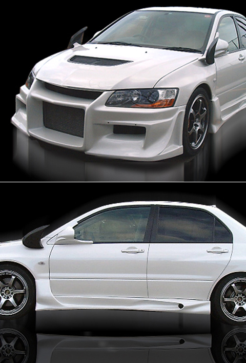 06 Mitsubishi Evolution 9 Bomex Body Kits - FULL KIT