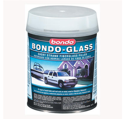 All Jeeps (Universal) Bondo Glass Fiberglass Reinforced Filler, Quart (US) Can - 12 Per Case