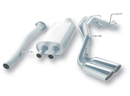 07-08 Escalade ESV/EXT 6.2L AT AWD 4DR Borla Stainless Steel Cat-Back Exhaust System, Pipe Diameter 3?/2.25?, Tip Size 4? RD x 13?, Tip Style Dual Round Rolled Angle Cut
