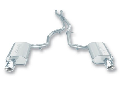 "06-08 IS350 3.5L AT RWD 4DR Borla Stainless Steel Cat-Back Exhaust System, Pipe Diameter 2.25"", Tip Size 4.25? x 3.5? OV x 6.5?, Tip Style Single Oval Rolled Angle Cut"