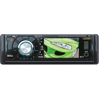 "1987-1995 Jeep Wrangler Boss In-Dash DVD/MP3/Cd AM/FM Receiver With 3.2"" Widescreen TFT Monitor With USB / SD Card / Aux"