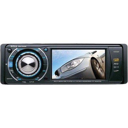 "1987-1995 Jeep Wrangler Boss Bluetooth/DVD/MP3/Cd/ AM/FM/USB/SD/Aux Receiver With 3.6"" Widescreen TFT Monitor"