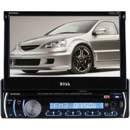 "1998-2005 Mercedes M-class Boss In-Dash Single Din DVD, Cd, MP3 Receiver With 7"" Touchscreen Monitor, Aux-In And USB Port"