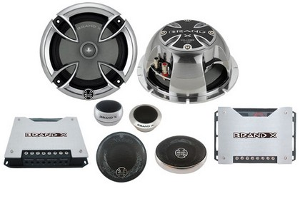 "All Jeeps (Universal) Brand-X 6.5"" 3-Way Component Speaker System"