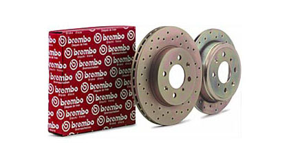 00-01 Mitsubishi Eclipse V6 Brembo Rotors - Sport Series Drilled (Front)