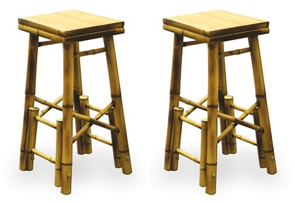 1982-1992 Pontiac Firebird Buffalo Tools 2Pc Bamboo Bar Stools