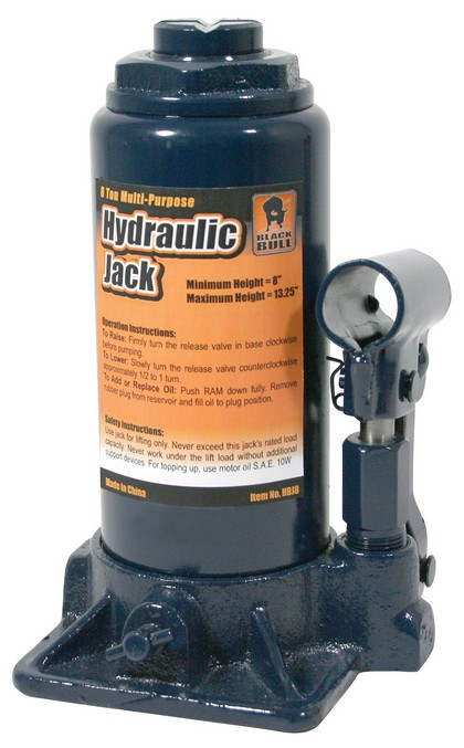 1980-1987 Audi 4000 Buffalo Tools 8 Ton Hydraulic Bottle Jack