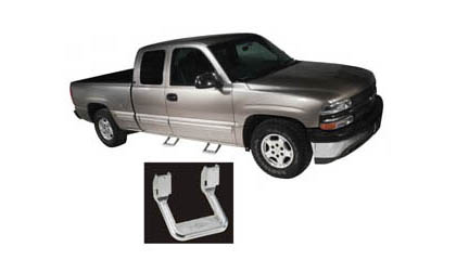 91-98 Toyota Landcruiser FJ80 Bully Truck Steps - Aluminum Steps (Pair) (Chrome)