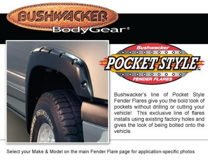 "09-10 F-150  Bushwacker Front Pocket Style� Fender Flares (1.5"" Tire Coverage)"