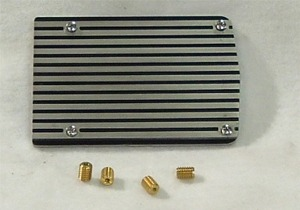 1960-1980 Mustang California Pony Cars A/C Compressor Cover Plate (Plain)