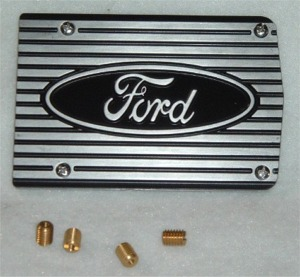 "1960-1980 Mustang California Pony Cars A/C Compressor Cover Plate (""Ford"" Letter)"