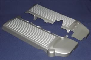 2005-2010 Mustang California Pony Cars Finned Fuel Rail Covers (Includes Left Side & Right Side Covers)