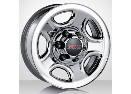 03-05 Chevrolet Astro Capital Factory Wheel - 16x6�, 5-spokes, 6-lug, 5� bolt pattern Original Chrome Steel Wheel