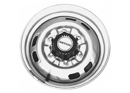 86-97 Nissan Pickup 4x2 Capital Factory Wheel - 14x5, 6 lug, 5-1/2 bolt pattern steel wheel