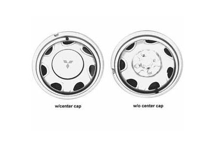 94-96 Eagle Summit Capital Factory Wheel - 13x4-1/2, 4 lug, 100mm bolt pattern steel wheel