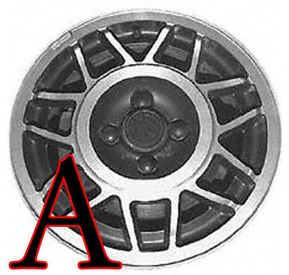 85-92 Volkswagen Cabriolet Convertible Capital Factory Wheel - 14x6, 14-spks, 4-lug, 100mm bolt pattern.