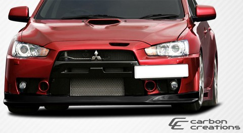 08-12 Mitsubishi Evolution X Carbon Creations VR-S Front Lip Spoiler